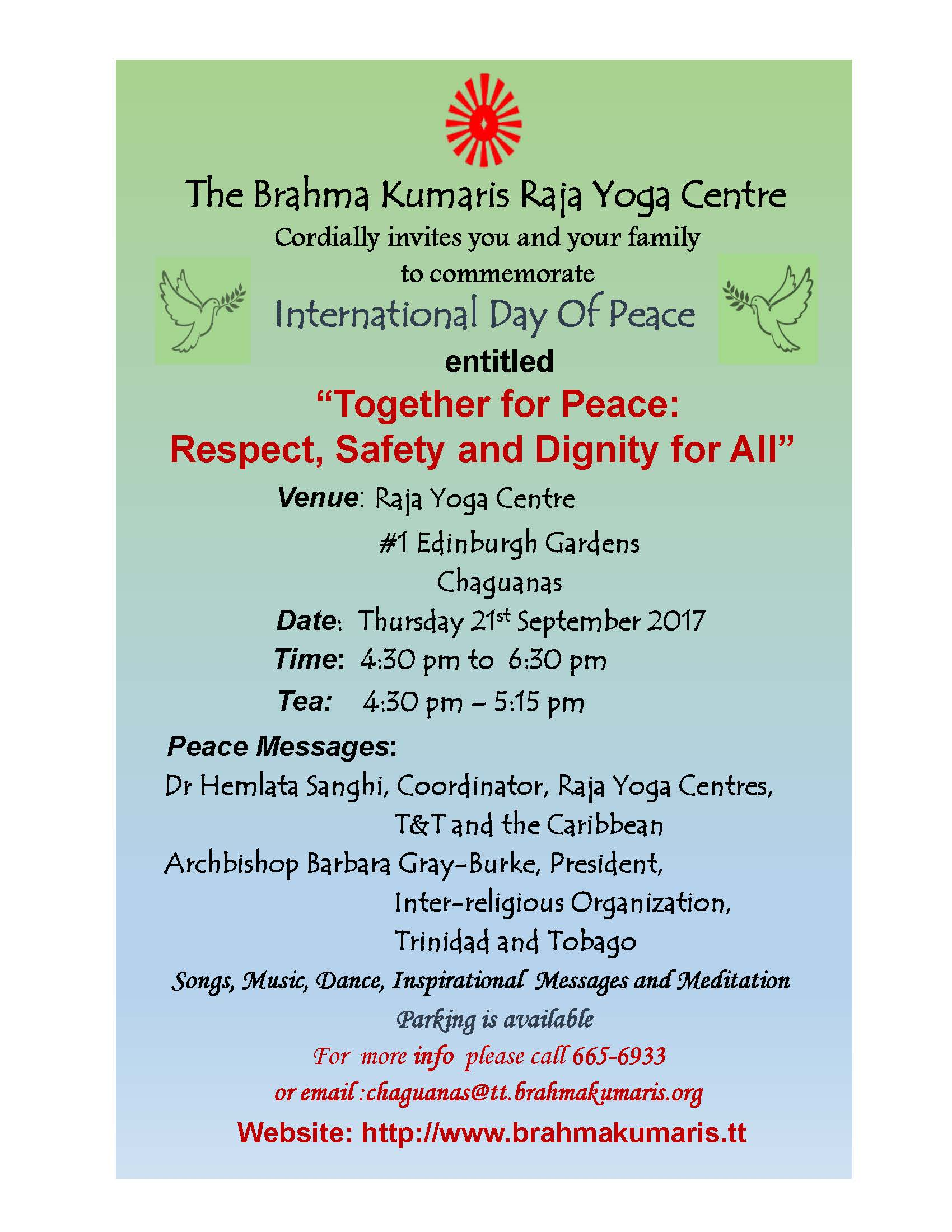 Together for Peace: Respect, Safety and Dignity for All