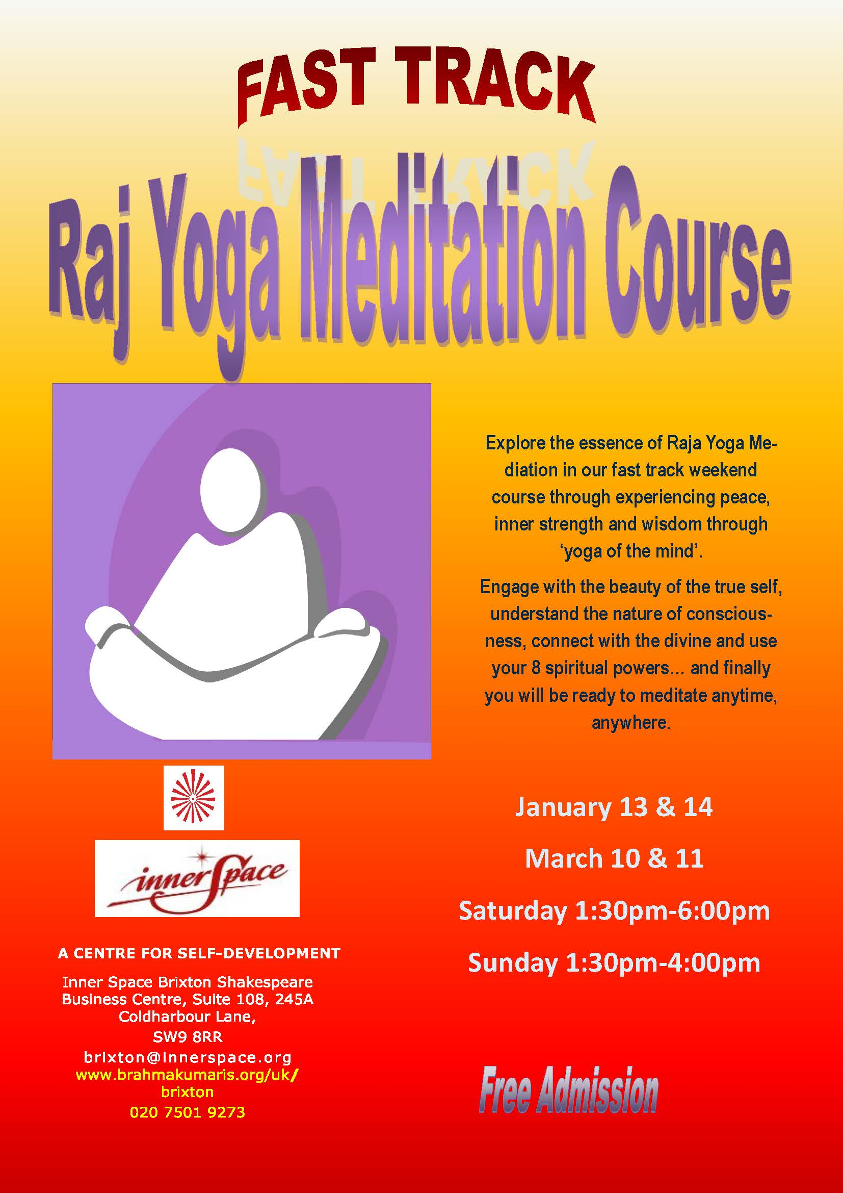 Fast Track Raja Yoga Meditation Course