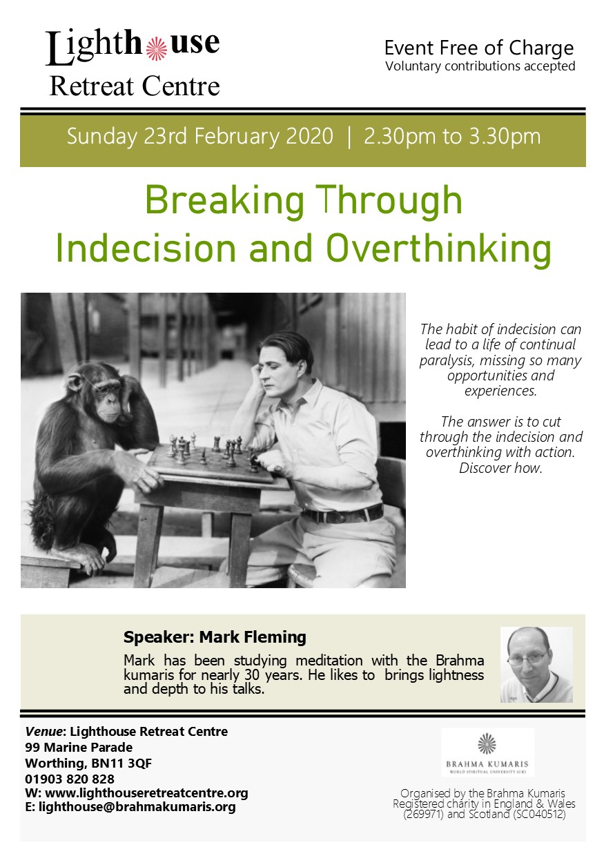 overcoming indecision and overthinking