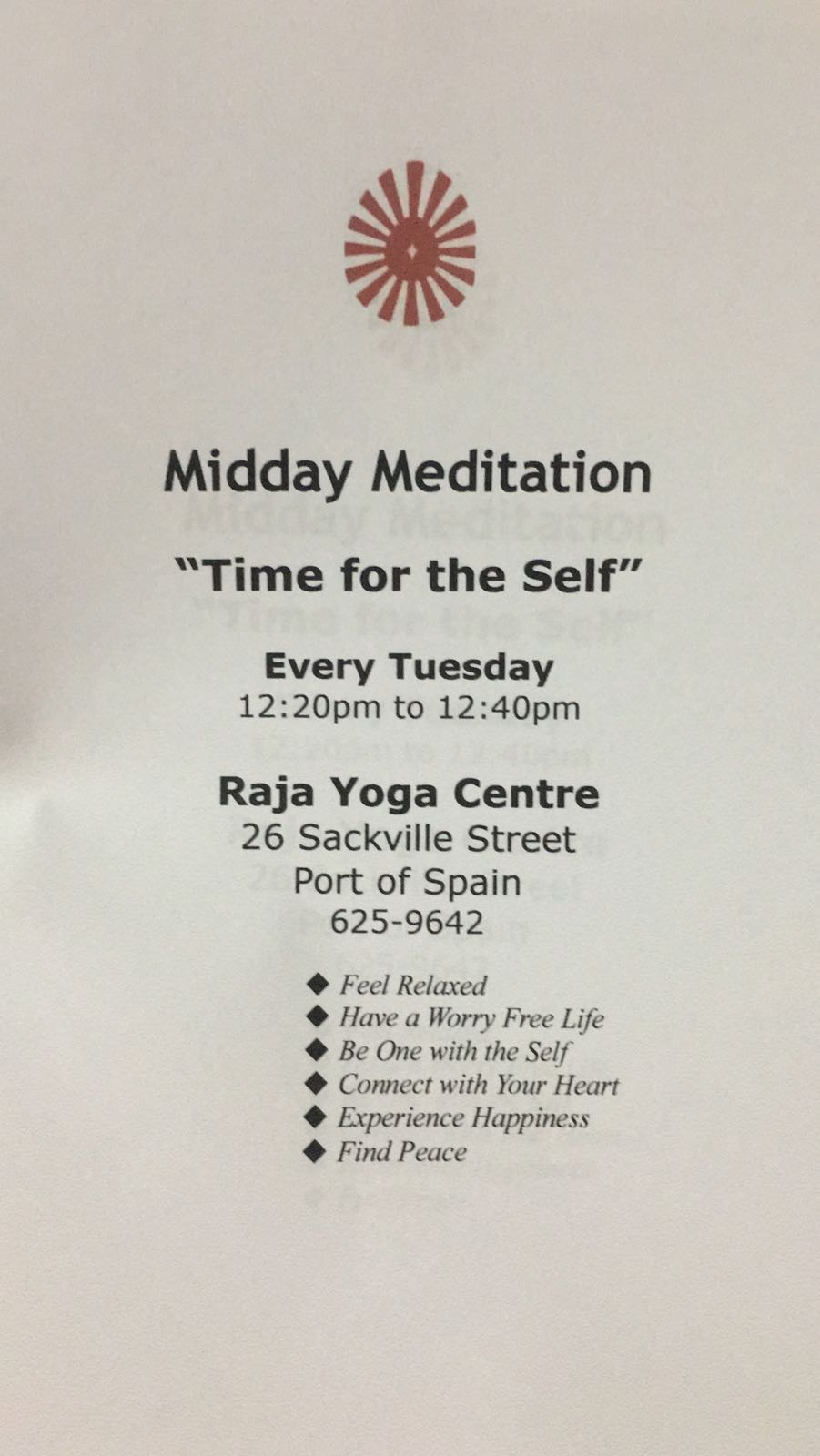 Midday Meditation - Time for the Self