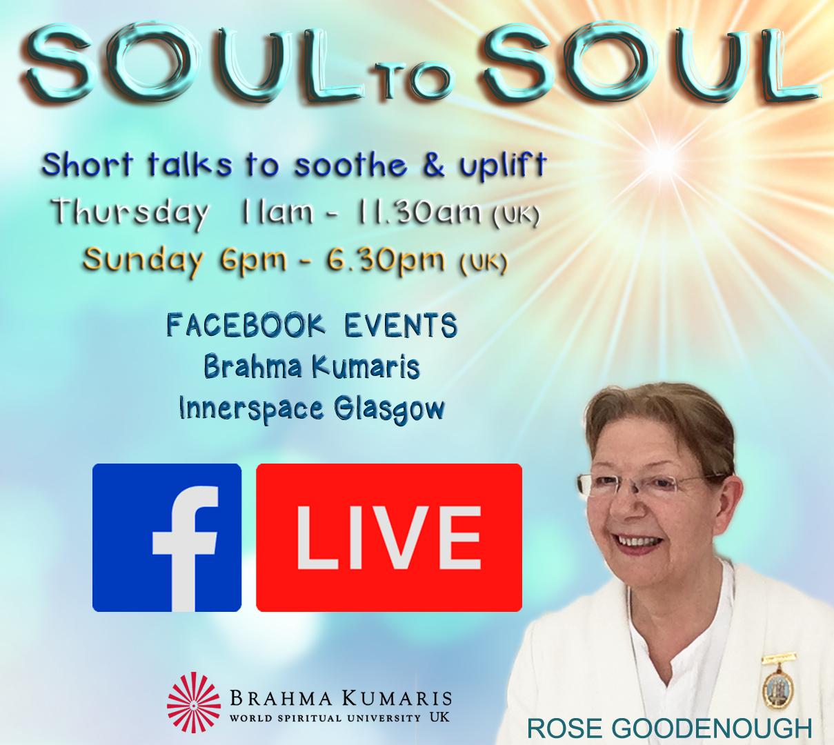 SOUL to  SOUL  Facebook LIVE